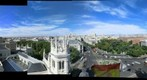 Vista panormica de 360 desde el Palacio de Cibeles de Madrid compuesta por la unin de 8 panormicas parciales