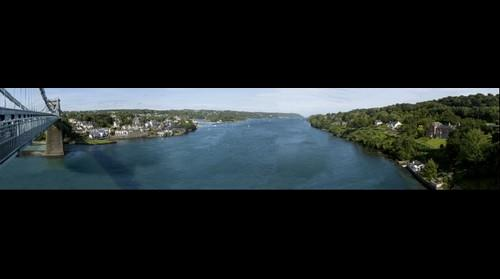 Menai Bridge and Strait, Anglesey, North Wales