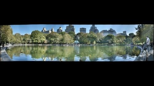 Conservatory Pond, Central Park, New York