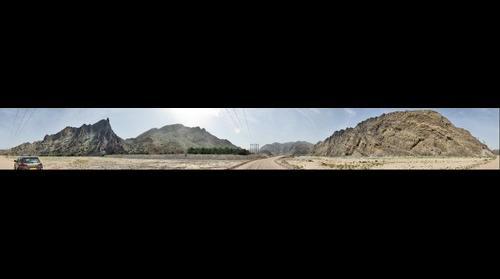 Mega synclinal recumbent hinge, Wadi Mayh, Oman