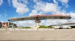 SR-826/SR-836 Bridge 15 with 12 Segments Up &amp; 12 Segments Down as viewed from East at 105mm
