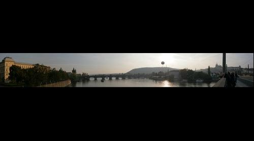 Prague - Czech Republic - Charles Bridge from Manes Bridge at Sunset