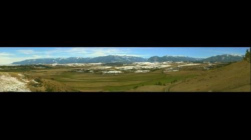 Snow from Mt Maurice to the West Rosebud - October 7  2012