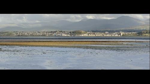 Caernarfon across Menai Strait