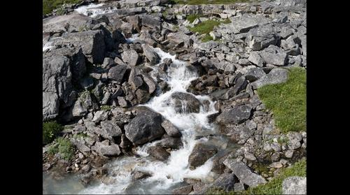 Alpine stream in White Pass, British Columbia, Canada