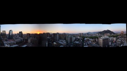 Santiago At Sunset