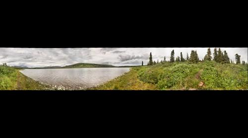 360 view at the Snipe Lake Cabin