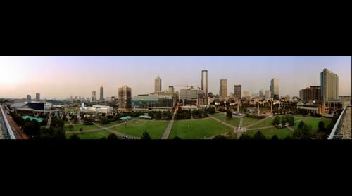 Atlanta Skyline from Centennial Olympic Park