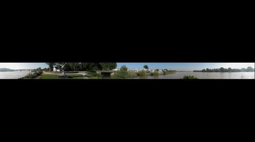 Der Rhein bei Speyer, Deutschland