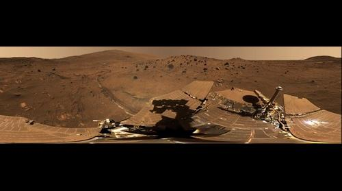 Spirit Mars Rover in 'McMurdo' Panorama (NASA) posted