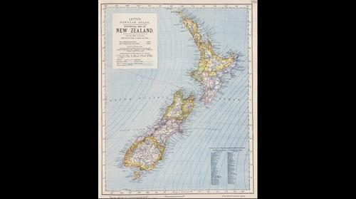 1879 Map of New Zealand