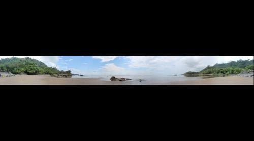 360 Panorama of Beach South of Dominical Beach