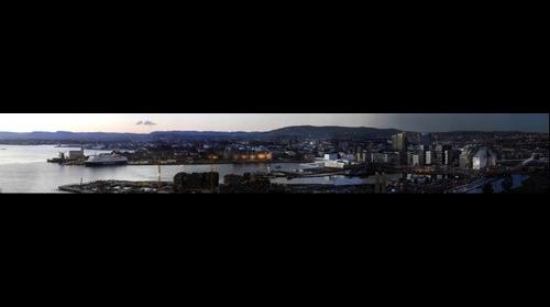Panorama of Oslo from Ekeberg