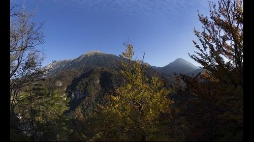 View from Smokuški vrh at moutain Stol and Vrtača