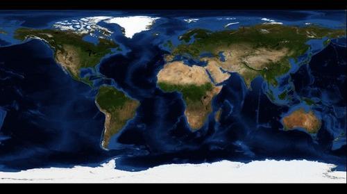 Blue Marble: Next Generation, August (2km/pixel)