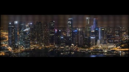 Singapore Skyline - At night