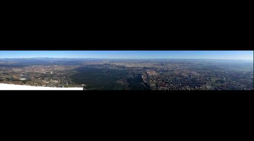 Panorámica aérea de Madrid desde el Oeste.