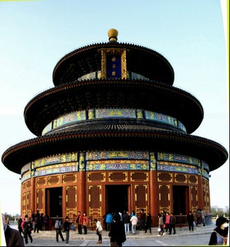 "Temple of Heaven Park (Tian Tan""), Qinian Dian circular temple, Beijing, China"