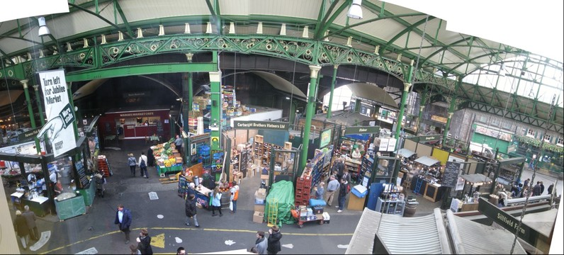 The Borough Market, South London, Great Britain