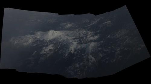 Lassen Peak from a commercial airliner - 12/8/12