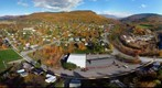 Bird's eye view of Bristol, Vermont