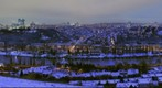 Praha in the winter morning