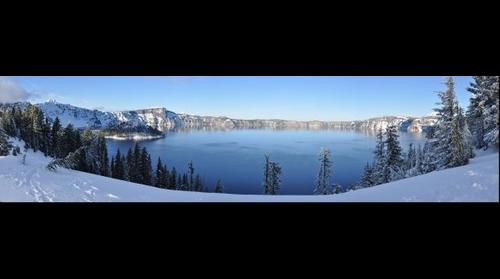 Crater Lake OR Winter Crater Rim Pan