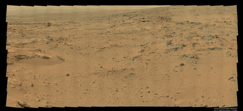 Sol 110 as seen from the Curiosity Rover on Mars