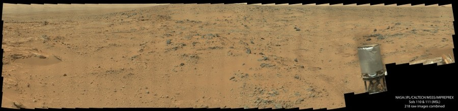 Sols 110 and 111 - as seen from the Curiosity Rover - *READ DESCRIPTION*
