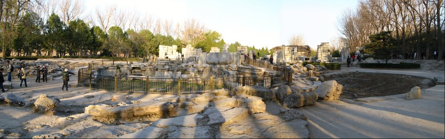 Ruins at Yuanmingyuan Park, near Beijing, China