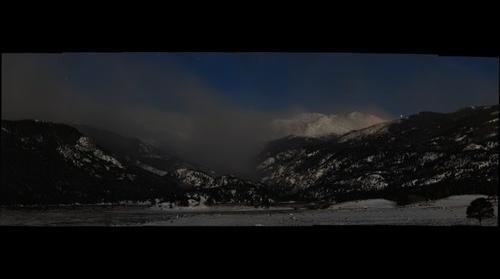 Fern Lake Fire, night panorama