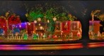 Lori's Christmas Lights on a Rainy Night - Side View