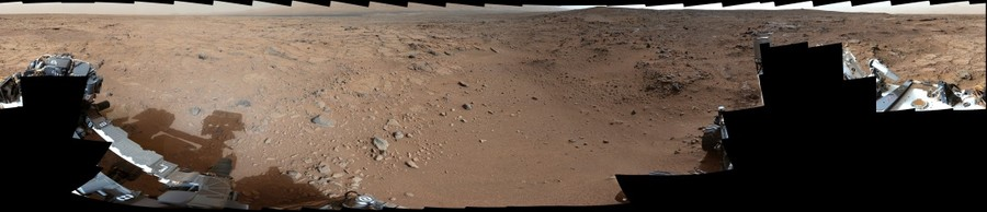 Mars Rover Curiosity's Panoramic View From Near 'Point Lake' in Gale Crater, Sol 106