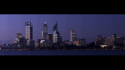 Perth City By Sunset