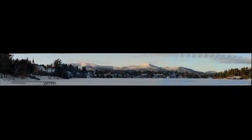 Lake Placid Village in the Snow