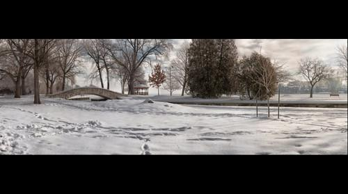 Doty Park in the snow