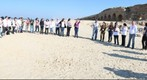 Taglit Birthright Bus 1046 Group Panorama at Caesarea