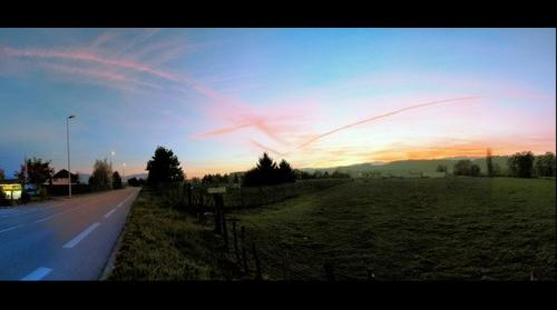 Sunset at Rumilly, Savoie, France