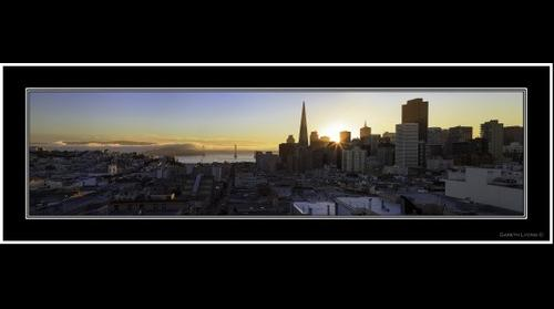 Sunrise over San Francisco City