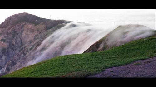 Pt. Reyes, CA headlands fog