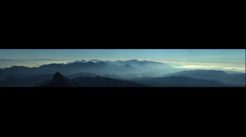 View from Triglav after sun rise