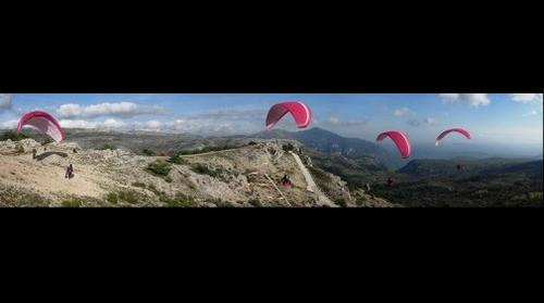 Paragliding reverse launch - French Riviera