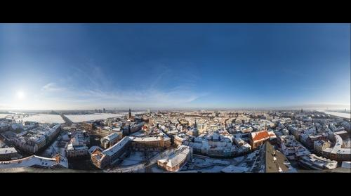 View over the Old Riga in wintertime
