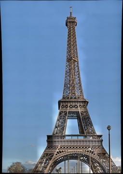 Eifel Tower in Paris shot from the bridge.