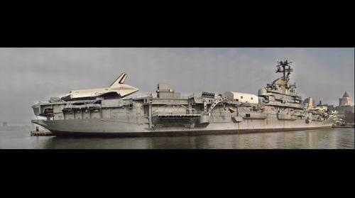 Space Shuttle Enterprise on Flight Deck of Intrepid