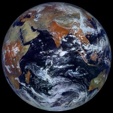 Earth September 26, 2012. Shooting satellite Electro-L