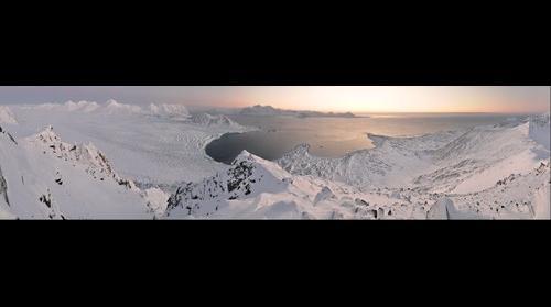Hornsund Fjord, Hans Glacier and Polish Polar Station (Spitsbergen)