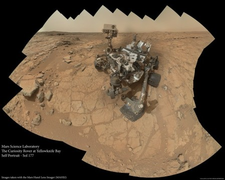 MSL - Self Portrait - Sol 177 (MAHLI)