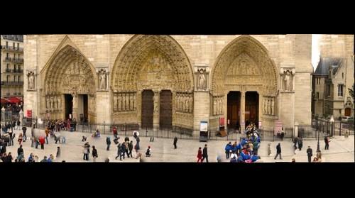 Notre Dame Western Porticos