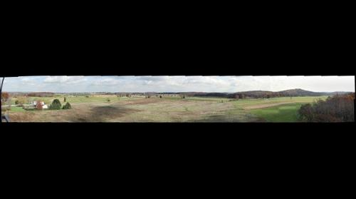 View from the Longstreet Tower at Gettysburg